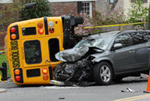 Bus and Car Accident