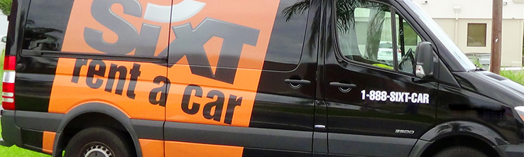 Sixt Rent A Car Truck With Logo